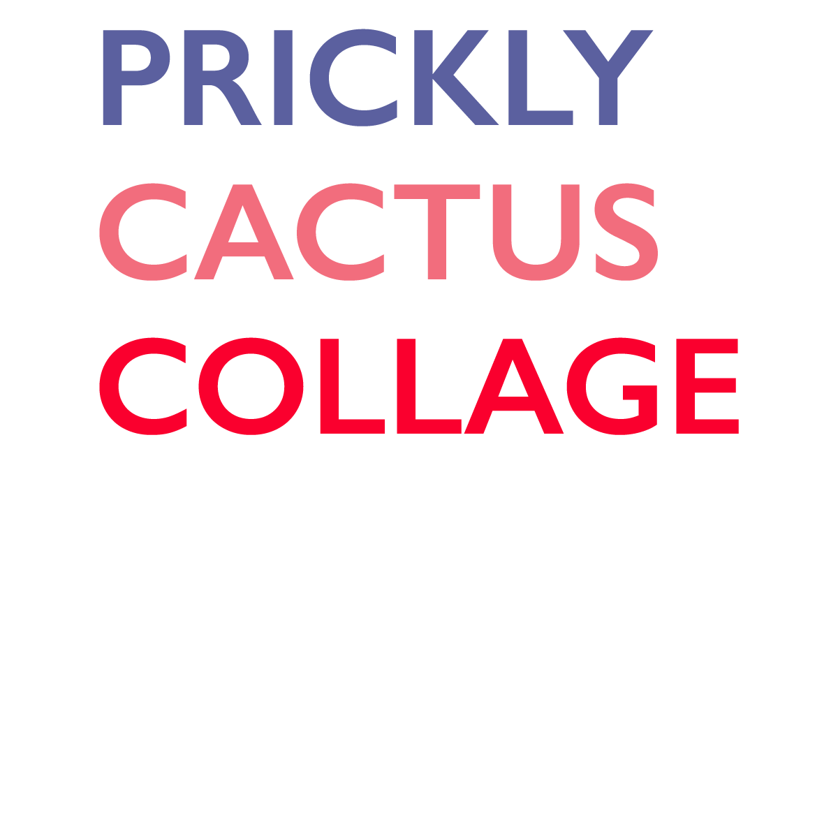Prickly Cactus Collage