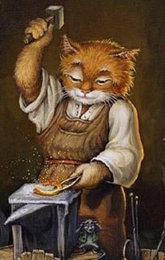 Tom Cat Metal Art
